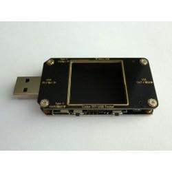 USB тестер 11 в 1 А3 с цветен LCD дисплей, Micro USB и USB Type-C