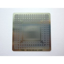 Шаблон (stencil, стенсил) chip size GK104-325-A2 за ребол (reball) на BGA чипове