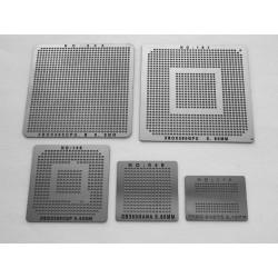 Шаблони chip size за ребол на XBOX 360 чипове, 5 броя