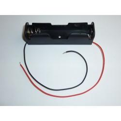 Кутия за акумулаторни батерии 18650 с кабели, за 1 батерия