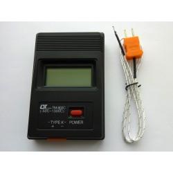 Цифров термометър TM-902C с температурна сонда Тип K