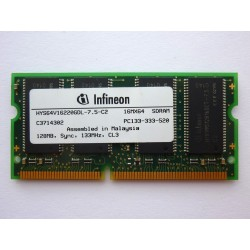 RAM памет Infineon 128MB SDR 133MHz 3.3V SO-DIMM, втора употреба