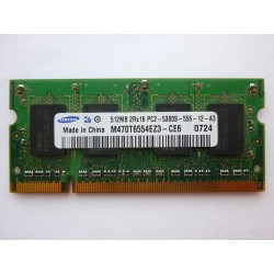 RAM memory Samsung 512MB DDR2 667MHz 1.8V SO-DIMM, used