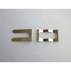 Kit of mounting clips for heating plate