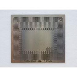 Шаблон chip size 35504360A1620 за ребол на Intel BGA чипове
