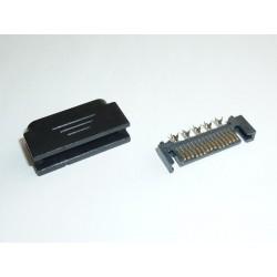 Конектор SATA Power (15-пинов, мъжки) за монтаж към кабел
