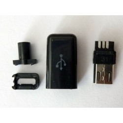 Micro-B USB букса (конектор мъжки) MIC-29 за монтаж към кабел