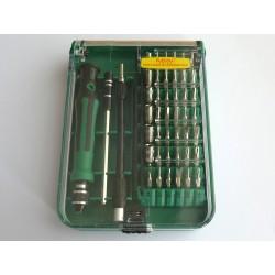 Комплект отвертки с битове Elecall 9002, магнитни, 45 части