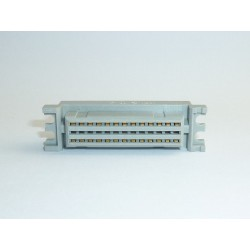 DIN 41612 connector RFT 3x13 (13+0+13 pins) female, for PCB mounting