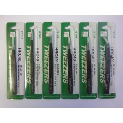 Kit of tweezers Vetus HRC40 from stainless steel, anti-magnetic, anti-static