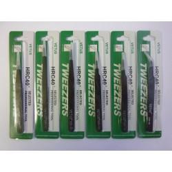 Комплект пинсети Vetus HRC40 от неръждаема стомана, антимагнитни, антистатични