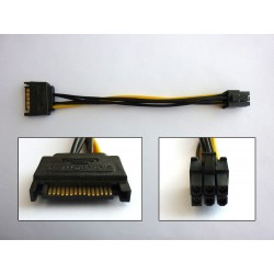 Cable adapter SATA Power to PCI-E (M-M), 15cm