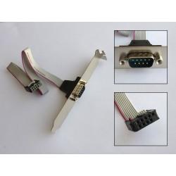 Планка със сериен порт (RS232) за заден панел на компютърна кутия