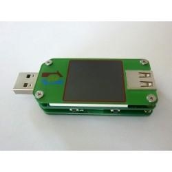 USB тестер 11 в 1 UM24C с цветен LCD дисплей, Micro USB и Bluetooth