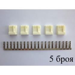Конектор за флопи устройство (4-пинов, женски) за монтаж към кабел, 5 броя