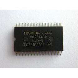 Чип Toshiba TC551001CF-70L (SOP32), SRAM памет, 1Mb (128KB x 8-Bit), нов