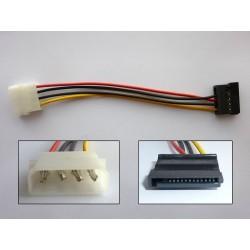 Кабел преходник Molex към SATA Power (M-F), 15см