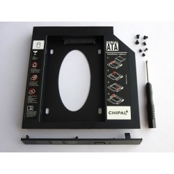 Second HDD Caddy, 12.7mm, Plastic, with front panel