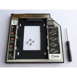 Second HDD Caddy, 9.5mm, Aluminium and Plastic