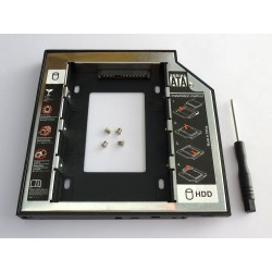 Second HDD Caddy, 12.7mm, Aluminium and Plastic