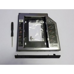 Second HDD Caddy, 9.5mm, Aluminium and Plastic v2, with front panel