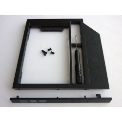 Second HDD Caddy, 9.5mm, Plastic v3, with front panel