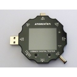USB tester and DC tester 9 in 1 Atorch UD18 with color LCD display and Bluetooth