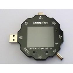 USB тестер и DC тестер 9 в 1 Atorch UD18 с цветен LCD дисплей и Bluetooth