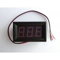 DC digital voltmeter, 30V, with LED display and separate power supply