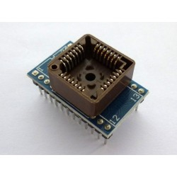 Adapter PLCC28 to DIP24 for programmer