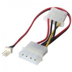 Cable adapter 3-pin fan to Molex