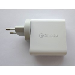 USB power adapter SDC-48W, 5V 2.4A, QC3.0, PD, 3 ports