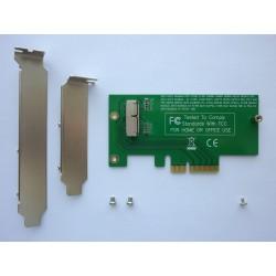 Адаптер Apple 12+16 пина SSD към PCI-E x4 конектор