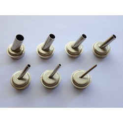7 hot air nozzles, curved, for Quick 861DW station