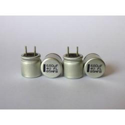 Polymer capacitor 680µF, 4V, 8x8mm, 4 pcs