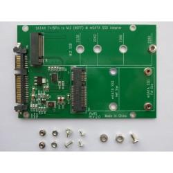 Адаптер M.2 SATA SSD или mSATA SSD към SATA конектор