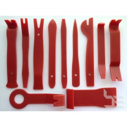 Tools for opening plastic panels, 11 pieces