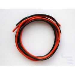 Комплект кабели за измервателни сонди, 2 кв.мм, многожичен, силиконов, 1м