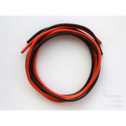 Set of cables for test probes, 2 sq.mm, stranded, silicone, 1m