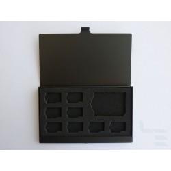 Кутия за съхранение на карти памет (8+1), алуминиева