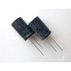 Електролитен кондензатор Fujicon 2200µF, 35V, 16x26мм, 2 броя