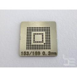 Шаблон chip size BGA153 / BGA169 за ребол на BGA чипове