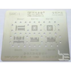Шаблони 6 в 1 BGA153 /162 /169 /186 /221 /254 за ребол на BGA чипове