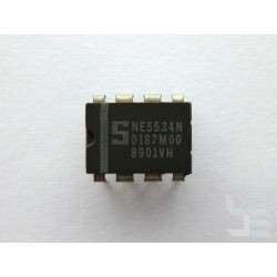 Чип Signetics NE5534N (DIP8), single operational amplifier, нов