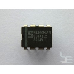 Чип Signetics NE5534AN (DIP8), single operational amplifier, нов