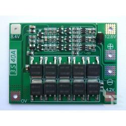 PCM модул 3S 40A 12.6V за Li-ion и LiPo акумулаторни батерии