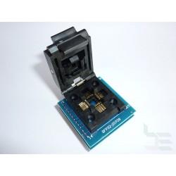Адаптер QFP32 / TQFP32 / LQFP32 към DIP28 за програматор