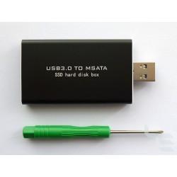 Адаптер mSATA SSD към USB 3.x с кутия v2