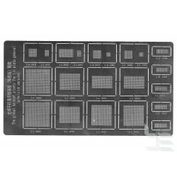 Шаблони универсални 21 в 1 за ребол на BGA чипове на телефони