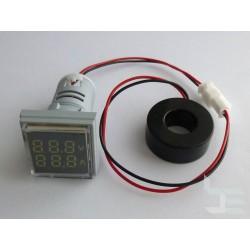 AC цифров волтметър и амперметър, 500V, 100A, с измервателен трансформатор